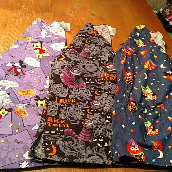 disney scrubs 1 white cross halloween scrubs